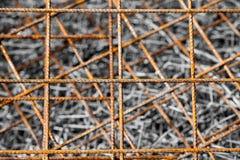 生锈的钢滤网抽象背景  免版税库存图片