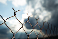 生锈的铁丝网 库存照片