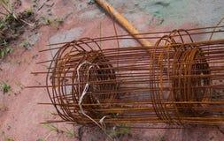 生锈的铁丝网 图库摄影