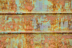 生锈的铁墙壁 库存图片