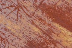 生锈的铁表面与老油漆,纹理背景残余的  库存图片