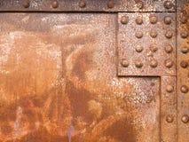 生锈的铁表面钢铆牢纹理样式 库存图片