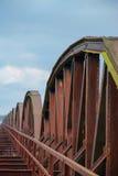 生锈的铁路桥 免版税图库摄影