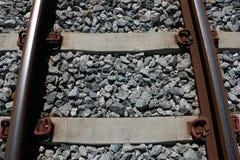 生锈的铁路 图库摄影