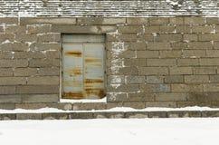 生锈的铁门 库存照片