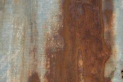 生锈的铁,巨大背景表面  免版税库存图片