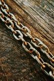 生锈的链子 免版税库存照片