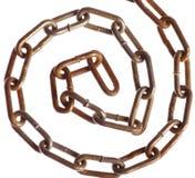 生锈的链螺旋 库存照片