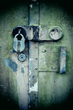 生锈的锁定 库存图片