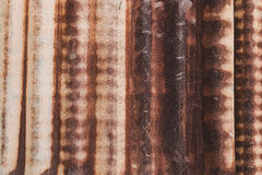 生锈的锌墙壁 免版税图库摄影