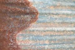 生锈的锌 免版税图库摄影