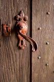 生锈的门把手 免版税库存图片