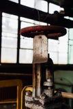 生锈的阀门&标记- Black Leaf Chemical Company -路易斯维尔,肯塔基 库存照片
