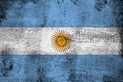 生锈的阿根廷和难看的东西旗子例证 向量例证