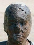 生锈的雕象头 免版税库存照片