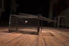 生锈的鼠笼子 库存照片