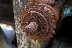 生锈的齿轮 库存图片