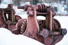 生锈的水坝轮子#2 免版税库存照片