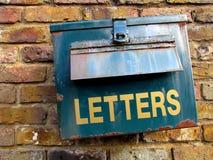 生锈的letterbox 库存照片