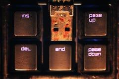 生锈的USB闪光推进连接器 图库摄影