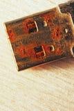 生锈的USB闪光推进连接器 库存图片