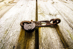 生锈老的挂锁 免版税图库摄影