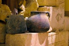 生锈老的瓦器 免版税库存照片