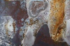 生锈背景五颜六色的金属 库存图片