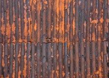 生锈金属的屋顶 库存图片