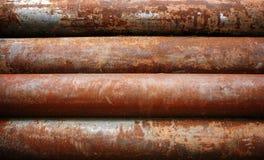 生锈金属的管道 库存照片
