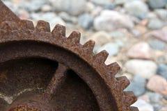 生锈钝齿轮的齿轮 免版税图库摄影