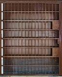 生锈门的金属 免版税库存照片