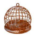 生锈围绕监狱的生锈的鸟笼 向量例证