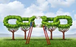 生长企业合作 免版税库存图片