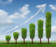 生长企业成就 免版税图库摄影