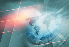 生长企业背景通过整个世界概念Serie 免版税库存照片