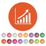 生长图表象 进展标志 平面 免版税图库摄影