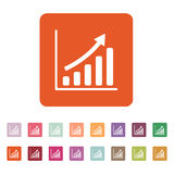 生长图表象 进展标志 平面 免版税库存照片