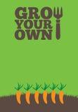 生长您自己的poster_Carrots 皇族释放例证