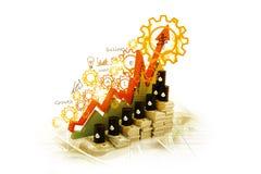 生长油图和价格 免版税库存图片