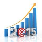 2015年生长目标 免版税库存图片