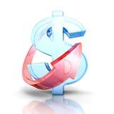 生长美元与箭头的货币符号 背景概念饮食金黄蛋的财务 库存图片
