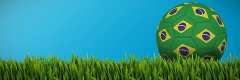 生长草的综合的图象户外 库存例证