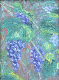 生长葡萄,油画 库存照片
