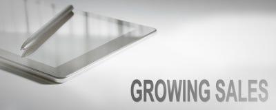 生长销售企业概念数字技术 免版税图库摄影