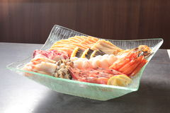 生鱼片日本烹调  库存照片