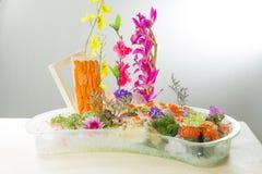 生鱼片日本烹调  库存图片