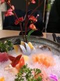 生鱼片盛肉盘在日本 免版税库存图片