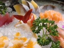 生鱼片盛肉盘在日本 免版税库存照片