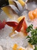 生鱼片盛肉盘在日本 图库摄影